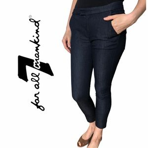 7 For All Mankind- Cropped Skinny Jeans